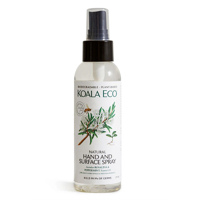 Hand & Surface Spray - (Rosalina & Peppermint) - Koala Eco 125ml