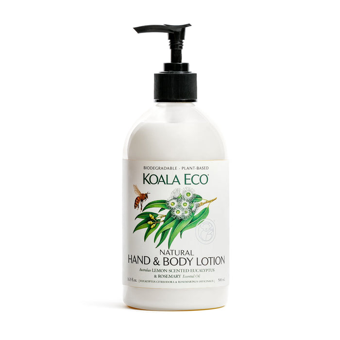 Natural Hand and Body Lotion (Lemon Scented Eucalyptus & Rosemary)500gm - Koala Eco - Australian Made
