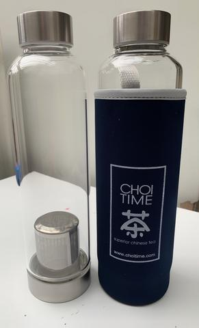 Glass Tea Flask 550ml- CHOI TIME TEA - The Fishwives Singapore
