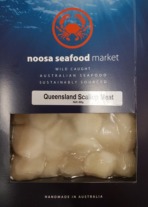 Saucer Scallop Meat 200g+/- Noosa Seafoods - WILD CAUGHT - FROZEN