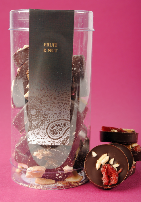 Dark Chocolate Fruit & Nuts Cylinder 100g - Ministry of Chocolate - The Fishwives Singapore