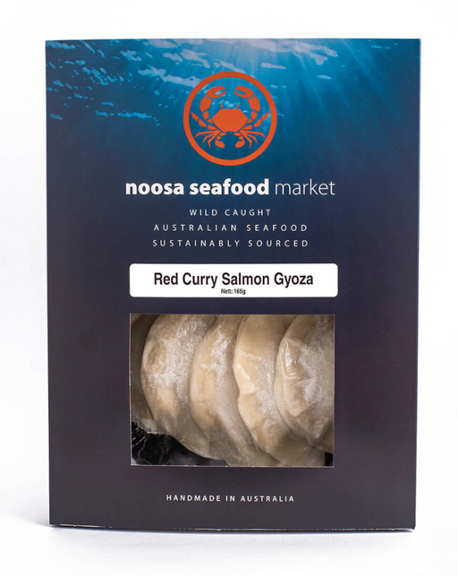 Red Curry Salmon Gyoza - Australian Seafood Providores- WILD CAUGHT - FROZEN