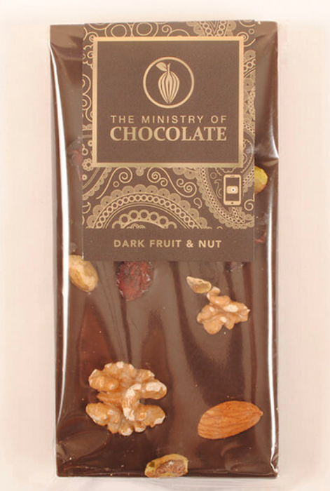 Dark Chocolate Fruit & Nut Bar 100g - Ministry of Chocolate