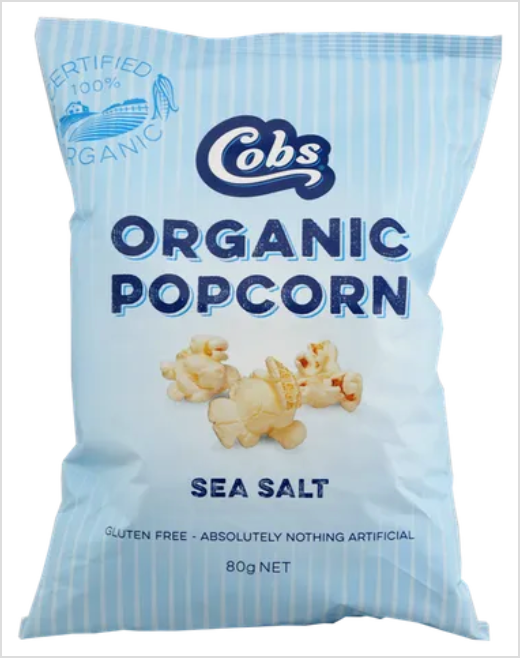 Cobs Organic Popcorn with Sea Salt - 80gm