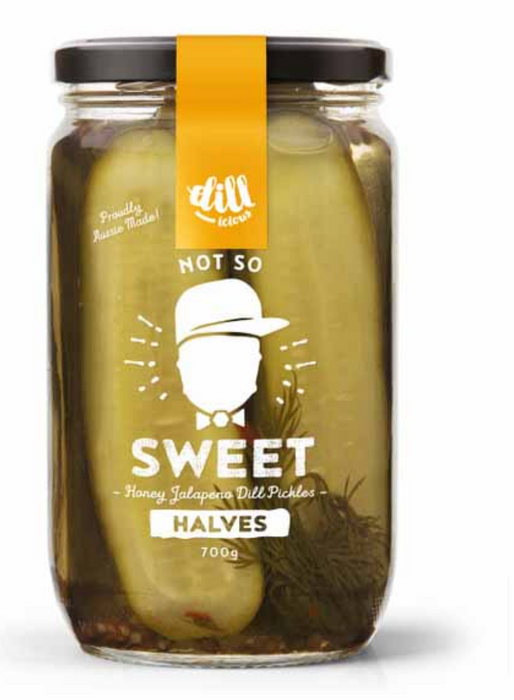 Not So Sweet Pickles (Halves) 700g - Dillicious