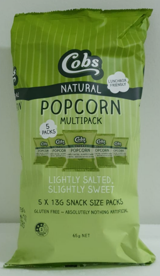 Cobs Popcorn Lightly Salted, Slightly Sweet - Multipack (5)