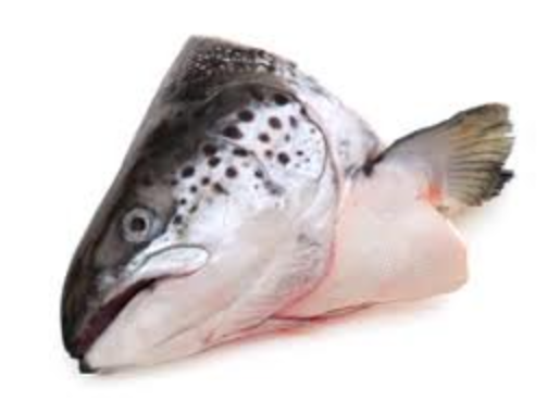 Frozen NZ King Salmon Heads 2Pc/Pkt Akaroa NZ