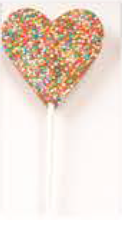 Heart Freckle Lollipop - Ministry of Chocolate