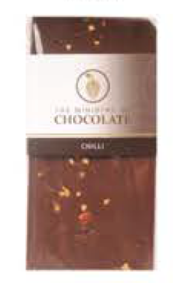 Dark Chilli Chocolate Bar 100g - Ministry of Chocolate