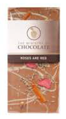 Roses Are Red Chocolate Bar 100g - Ministry of Chocolate