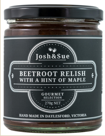 Beetroot Relish with a Hint of Maple (270g) - JOSH & SUE - The Fishwives Singapore