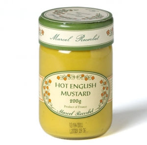 Hot English Mustard 200g - MARCEL RECORBET - The Fishwives Singapore