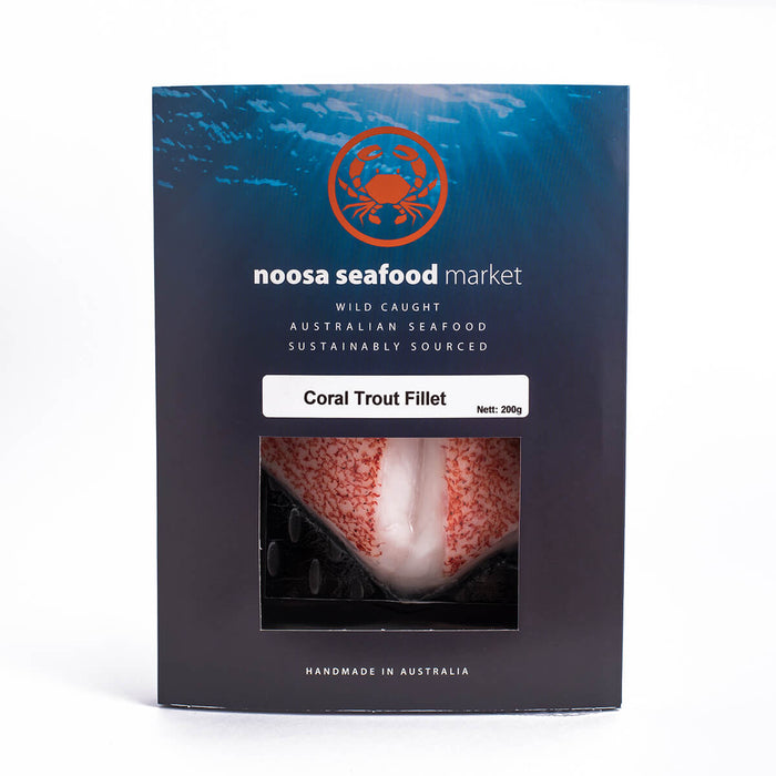 Coral Trout Fillets 200g+/- Noosa Seafood Market - WILD CAUGHT - FROZEN - The Fishwives Singapore