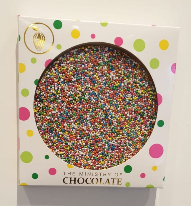 Milk Rainbow Pizza - Ministry of Chocolate 120gm