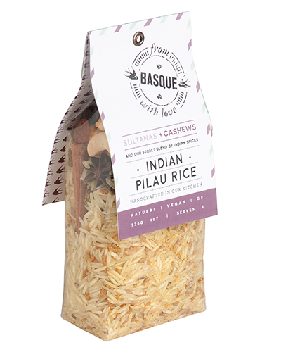 Indian Pilau Basmati Rice with Sultanas & Cashews - From Basque with Love