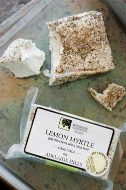 Lemon Myrtle Chevre 150g - Woodside Cheese Wrights, Adelaide