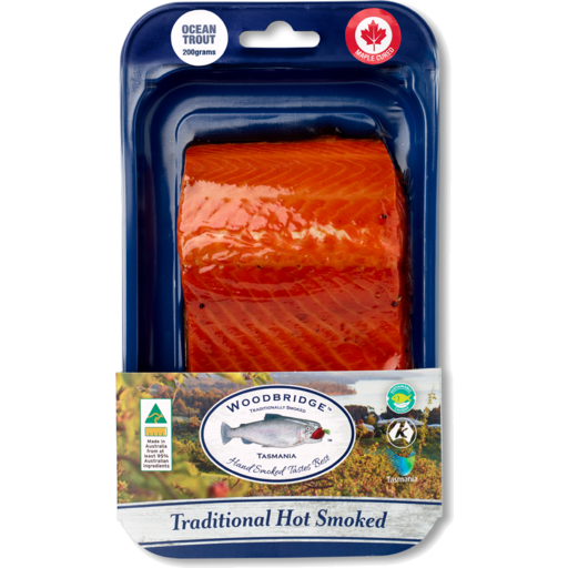 150gm Premium Hot Smoked TROUT (4 Flavours) - Woodbridge Smokehouse, Tasmania