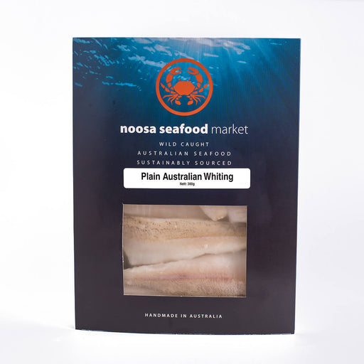 Whiting Fillet 200g +/- Noosa Seafoods - WILD CAUGHT - FROZEN