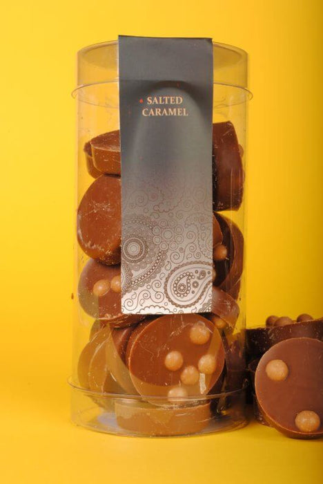 Cylinder Salted Caramel 110g - Ministry of Chocolate - The Fishwives Singapore