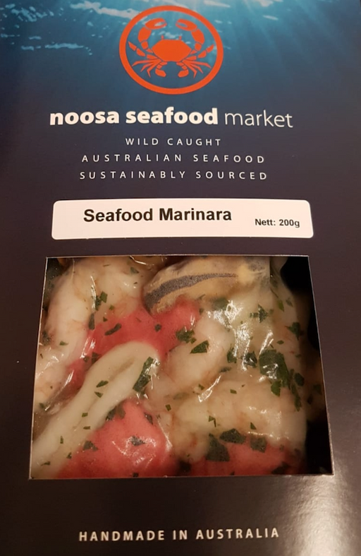 Seafood Marinara Mix 200g+/- Noosa Seafoods - WILD CAUGHT - FROZEN