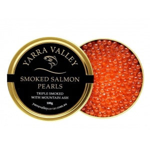 100gm Australian Premium Triple Smoked Salmon Caviar Jar - Yarra Valley Caviar