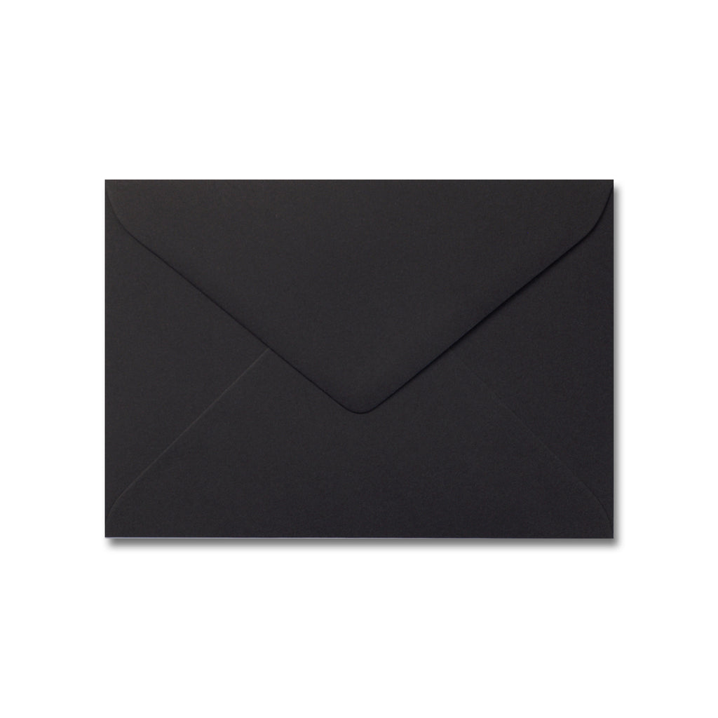Matte Black 5x7 Envelope for Invitations