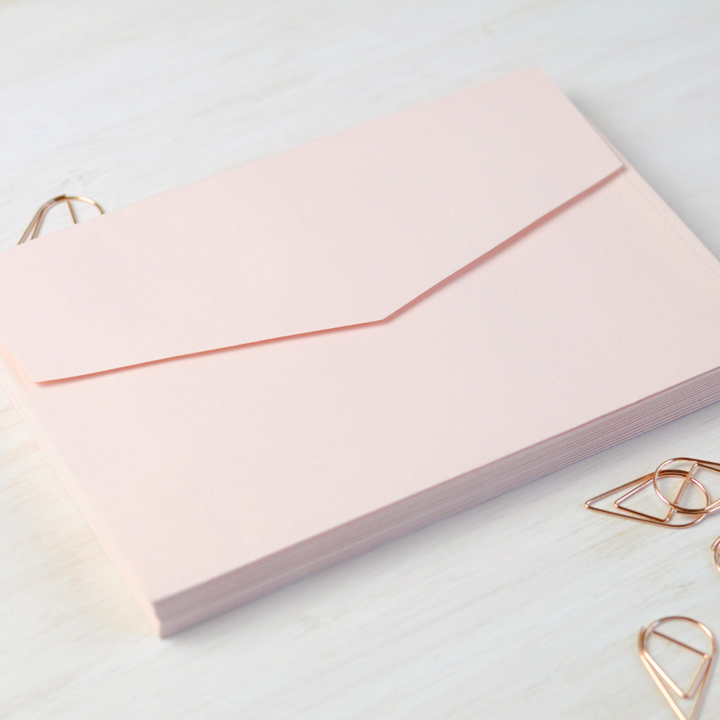 Blush Pink Envelope in 5x7 or C6
