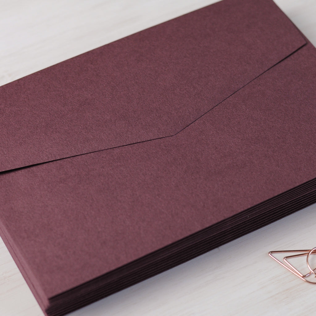 Burgundy Envelope for Invitations in C6 or 5x7