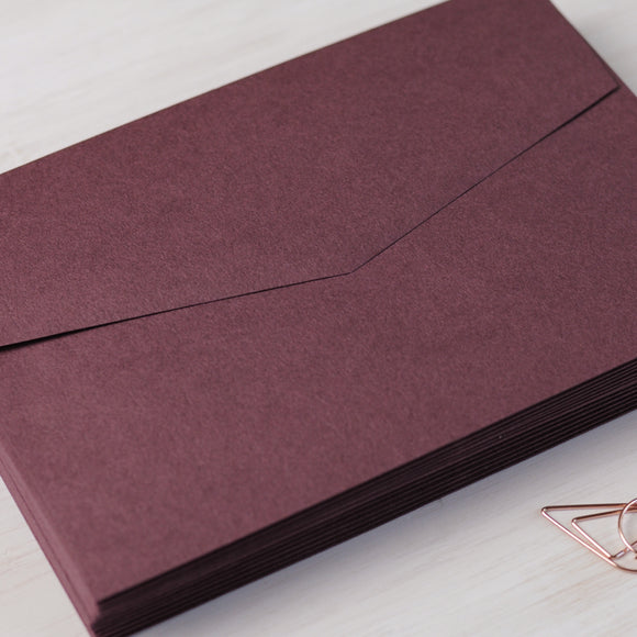 Oxblood Burgundy 5x7 Envelope for Invitations