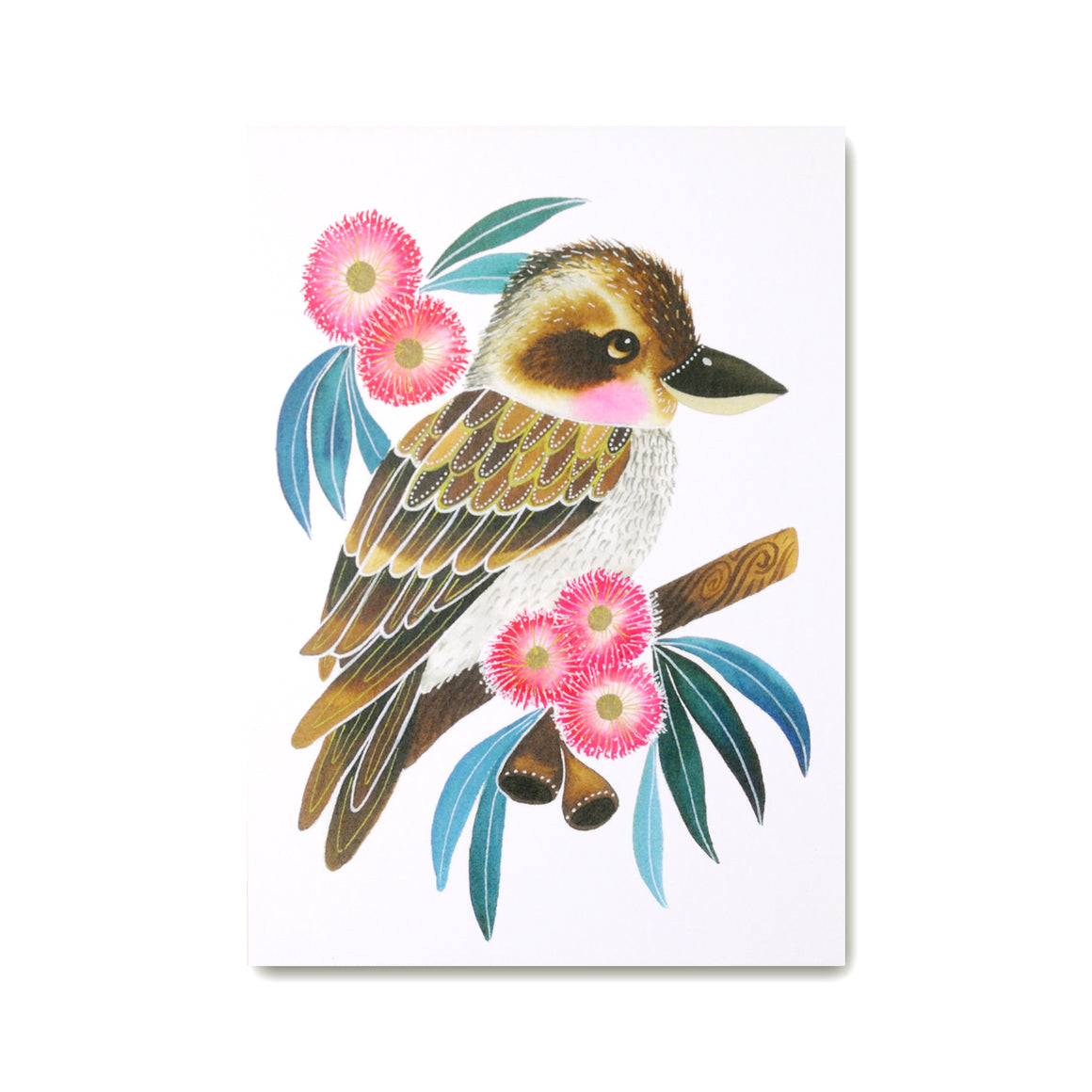 Kookaburra Art Print featuring Kookaburra illustration