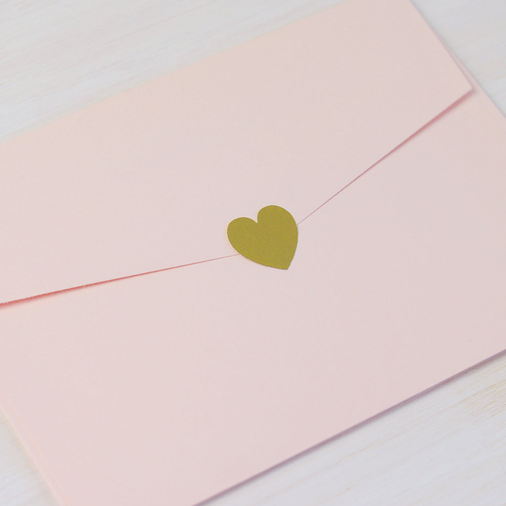 Cute Little Heart Stickers in Gold