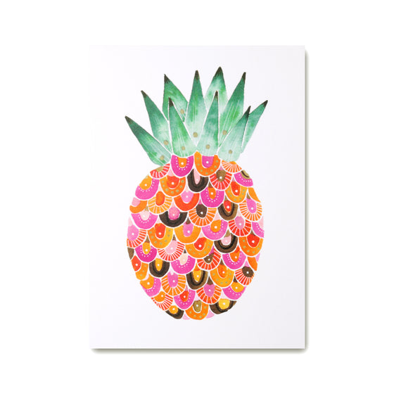 Pineapple Art Print with colourful pineapple illustration