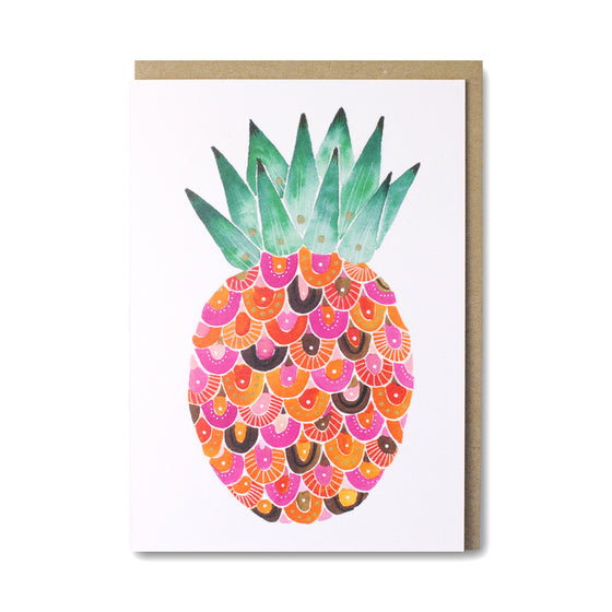 Pink Pineapple Greeting Card