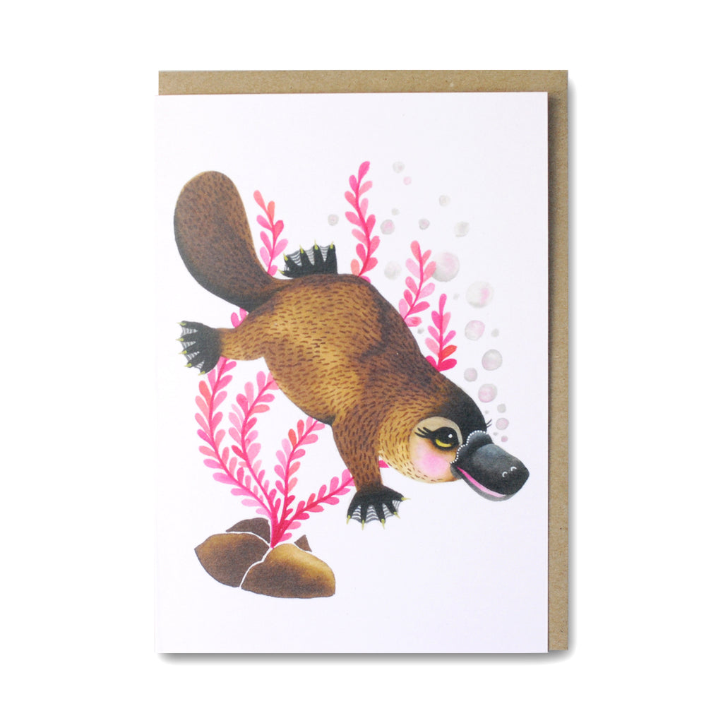 Platypus Greeting Card