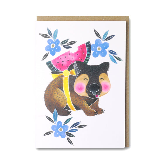 Cute Wombat Card