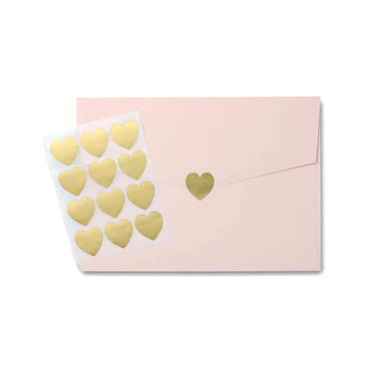 Gold Love Heart Stickers Mini