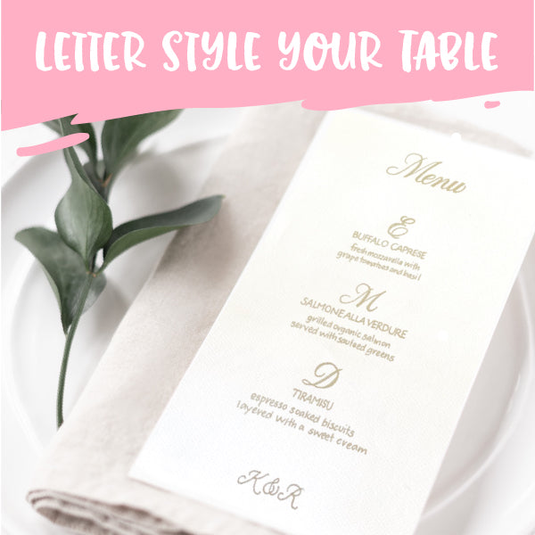 DIY Beautiful Placecards and Menus in our Lettering Workshop