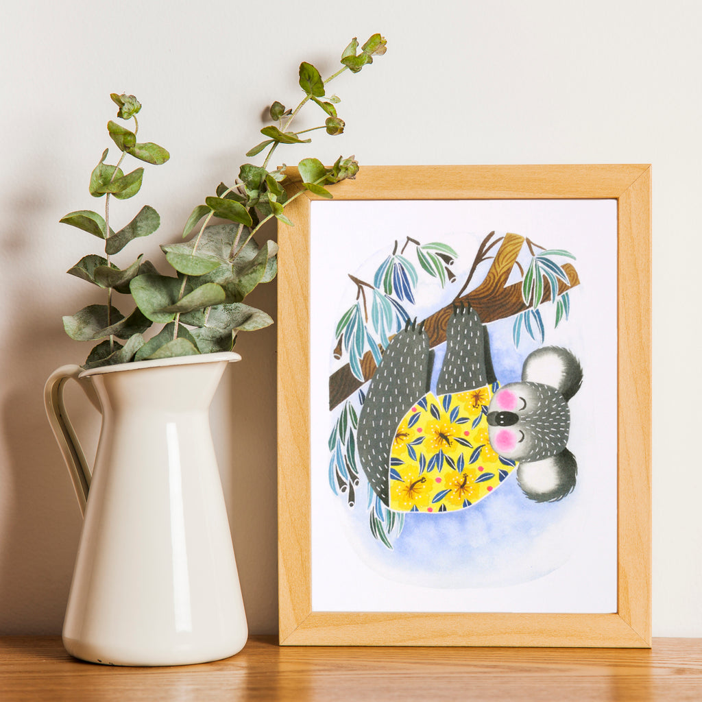 Cute Koala Art Print Wall Decor