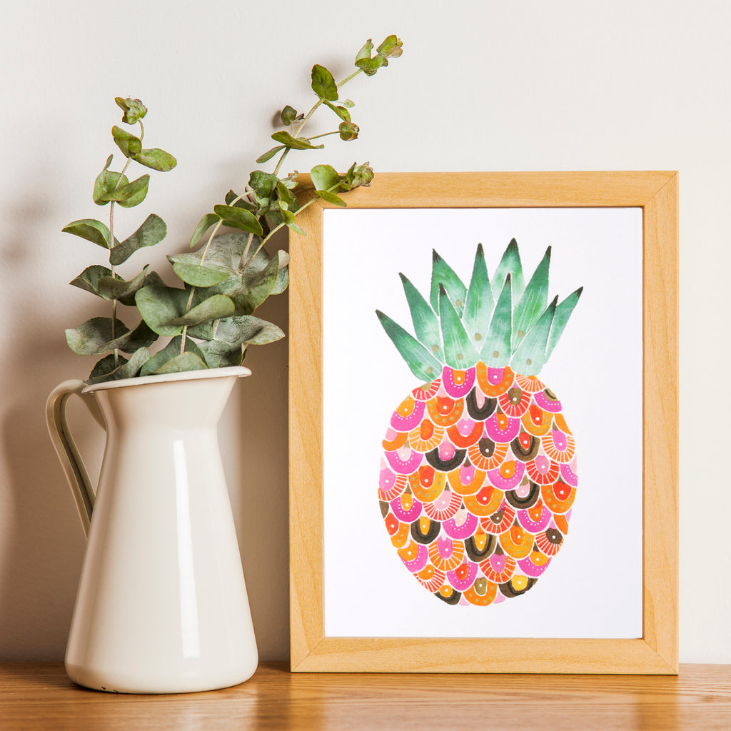 Pineapple Art Print room decor