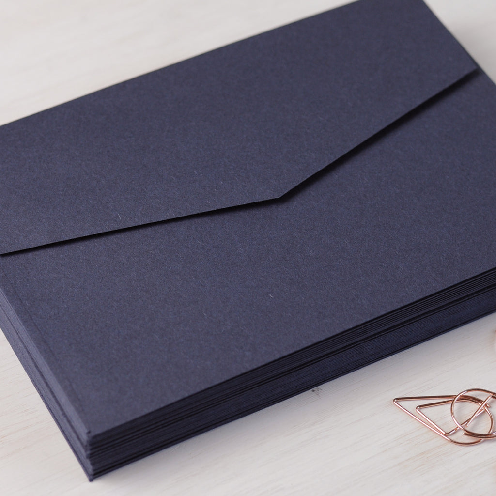 Navy Envelopes for Invitations in C6 or 5x7