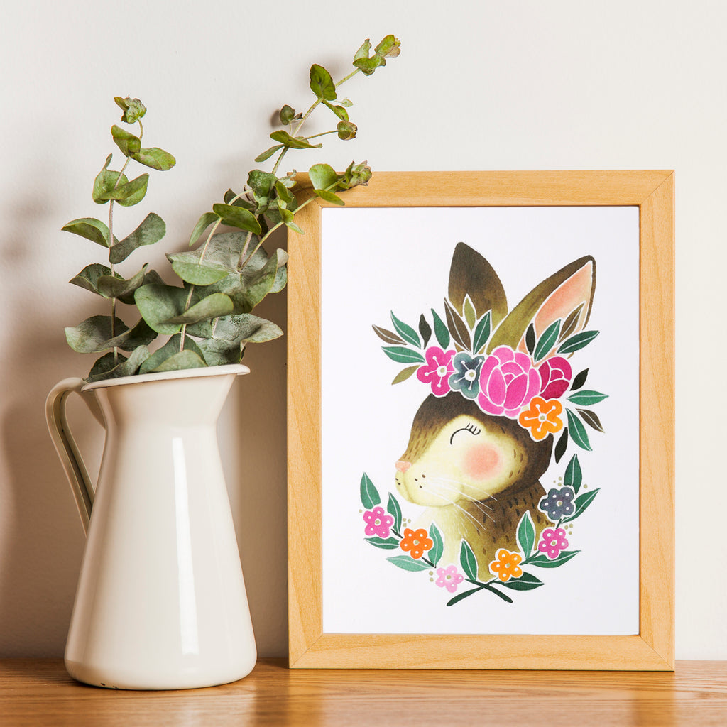 Bunny Art Print for Nursery Decor