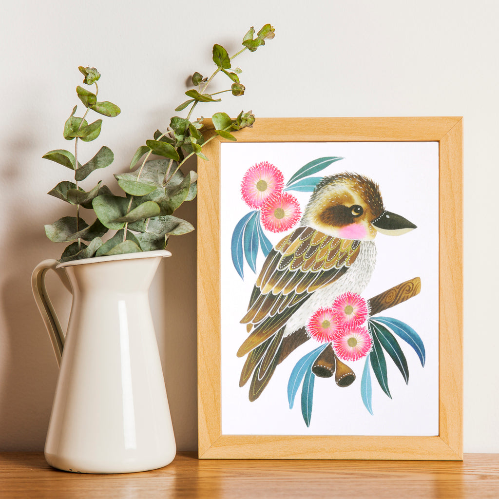 Cute Kookaburra Art Print