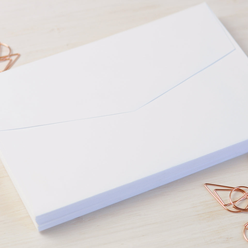 White Envelopes for Invitations in 5x7 or C6