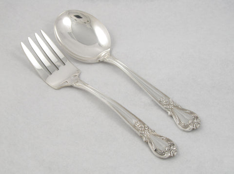 """Ancestry"" Pattern Sterling Silver Feeding Set by Weidlich"