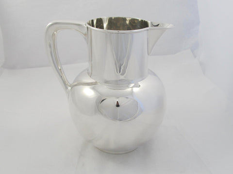 Sterling Silver Water Pitcher by Mauser Manufacturing Company
