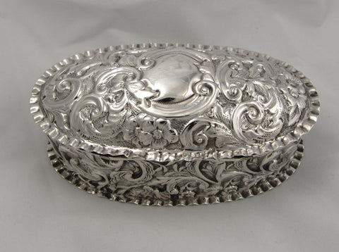 Victorian Sterling Silver Repousse Box