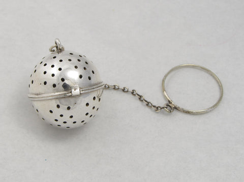 Unmarked Sterling Silver Tea Ball