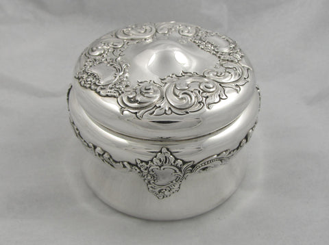 Round Sterling Silver Box by George C. Shreve & Co.