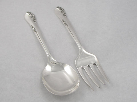 """Engagement"" Pattern Sterling Silver Feeding Set by Oneida"