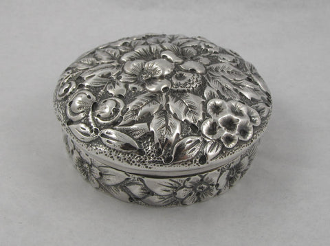 Repousse Sterling Silver Compact Box by Black, Starr & Frost